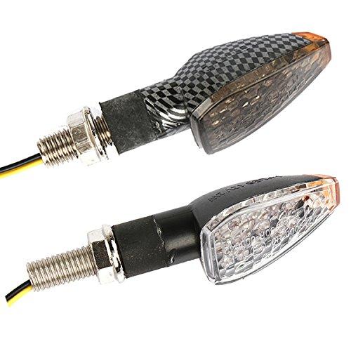 4x-14-LED-Mini-Mortoradblinker-Motorrad-ATV-Roller-Quad-Universal-Blinkleuchte-Blinker-mit-E-GEPRFT-Gelb-Licht-12V-Schwarz