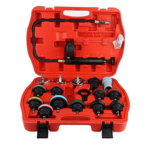 Kühlsystem-Prüfvorrichtung, Universal Auto-Wassertank-Leck-Prüfvorrichtungen-Kühlsystem-Detektor-Werkzeug Set 18pcs