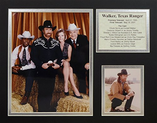 Legends Never Die, Inc. Walker, Texas-Ranger-Foto-Collage, 27,9 x 35,6 cm - Ranger-foto Walker Texas