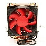 SilenX EFZ-80HA3 Processor Cooler - Computer Cooling Components (Processor, Cooler, LGA 1155 (Socket H2), LGA 1156 (Socket H), LGA 775 (Socket T), Socket 754, Socket 939, Socket 940,..., 24 dB, lga775, lga1155/1156, socket 754,939,940, AM2, AM2+, AM3, Red)