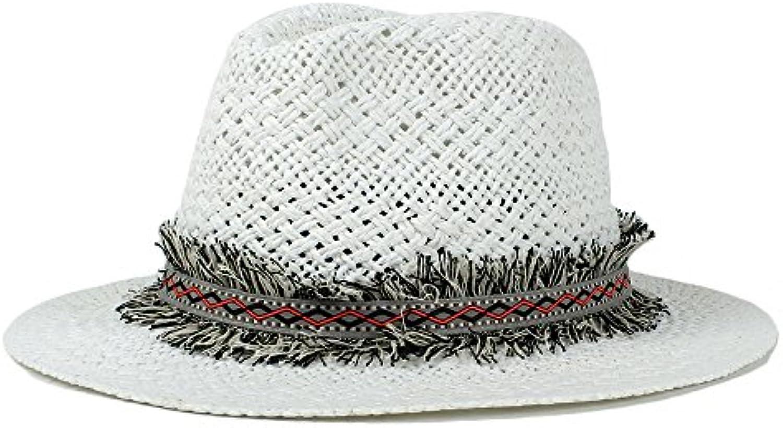 HYF Cappello Panama a Tesa Larga da Donna con Cappello da da Cappello Sole  Fedora ( ee469ea5e4b3