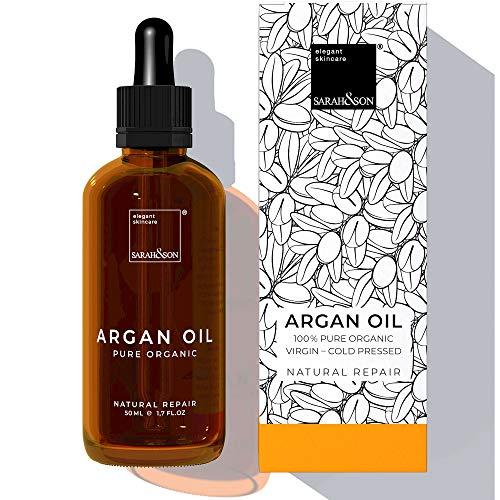 Intensivkur Lotion (Sarah&Son reines Bio Arganöl kaltgepresst für Gesicht, Haut und Haar aus Marokko 50ml vegane Kosmetik)