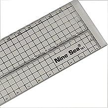 DyNamic NUEVA MAR 30cm Regla de patchwork Alineación de corte Regla de borde metálico