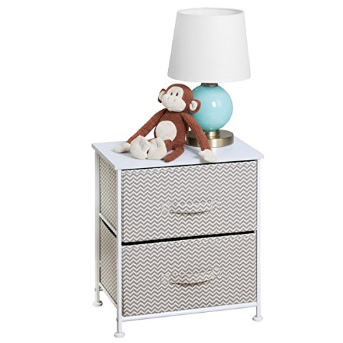 mDesign Mesa de luz con 2 cajones - Organizador de armarios en...
