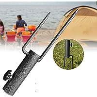 AFFC Metal al Aire Libre Paraguas Parasol del sostenedor del Soporte de Tierra de Spike Pesca inserte el tapón del césped Insertar Estabilizador