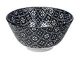 Tokyo Design Studio Nippon schwarz Flower Reis Schale 12x 6,4cm, schwarz/weiß