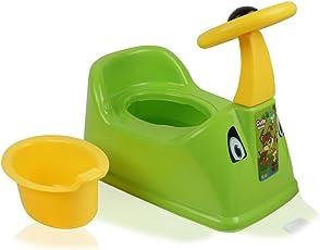 La Corsa Ferrari Car Designed Baby Potty Seat with Removable Bowl (Green, QO-IPWW-H67I)