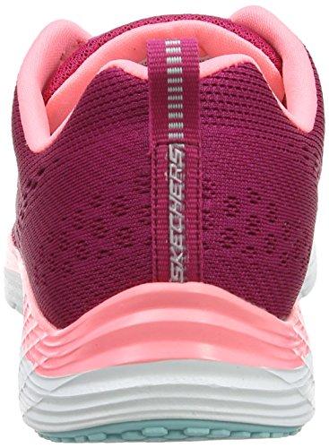Skechers Valeris Back Stage Pass, Chaussures de Running Compétition femme Rouge (Ras Bordeaux)
