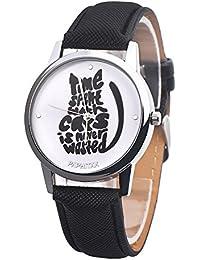 da2908025f73 Souarts reloj pulsera cuarzo Analog Reloj Diseño de gato correa de piel  sintética para niños estudiantes
