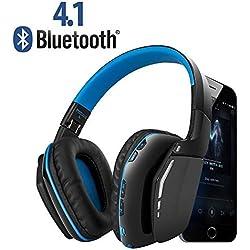 Weton Bluetooth Gaming Headset, V4.1Auriculares inalámbricos con micrófono para iPhone Android ordenador y PS4