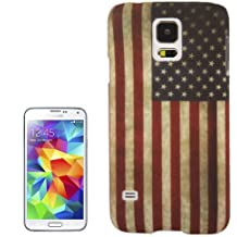 The Fly Shop - Cover per Samsung Galaxy S5 SM-G900F e S5 neo / Custodia in plastica rigida antiscivolo con Bandiera degli Stati Uniti d'America USA in stile vintage