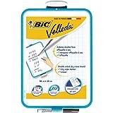 BIC Velleda - Pizzara dos superfícies, 24 cm x 33 cm con marcador BIC Velleda 1721 y borrado