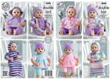 King Cole Doll Clothes Knitting Pattern 5000 DK