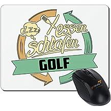getshirts - RAHMENLOS® Geschenke - Mousepad - Sport Golf - weiss uni