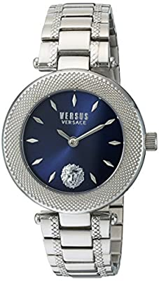 Versus by Versace Women's 'BRICK LANE' Quartz Stainless Steel Casual Watch, Color:Silver-Toned (Model: S71030016)