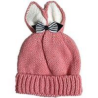 1,6 mois Bonnet Tricoté Cagoule bébé Unisexe Garçons Filles Longra Papillon  Des oreilles de