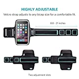 iPhone 6s Armband, Anker Sport Armband for iPhone 6 / 6s (4.7 inch) for Sports, Running, Jogging, Walking, Hiking, Workout and Exercise, Sweat-Free High-Quality Neoprene with Headphone and Key Slots and 2 Extra Cuttable Strips Bild 2