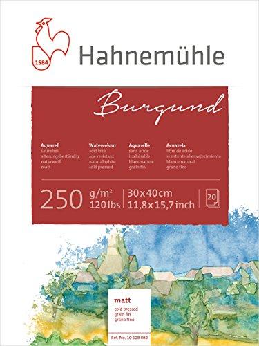 Hahnemühle Aquarellkarton Burgund, matt, 250 g/m², 30 x 40 cm, 20 Blatt