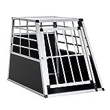 Homcom Cage de transport pour chien en aluminium XL 65L x 91l x 69H cm noir