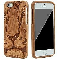 eimo Mano autentico legno naturale legno Caso case shell skin per iPhone 6 4.7''(tigre)
