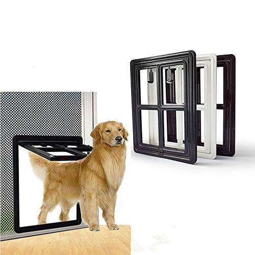 Fewao Puerta mosquitera para Perro, Puerta de Perro y Gato para Puerta mosquitera magnética con Solapa, Puerta con Bloqueo automático para Animales pequeños para Ventana y Porche