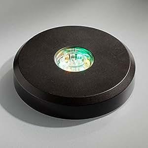 LED Base schwarz rund - 15xLED mit Farbwechsel LED Sockel