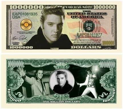 Elvis Presley Million Dollar Bill Bill Bill With Bill Protector by The Millions Club | élégante Et Gracieuse  8d1c66