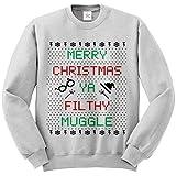 Merry Christmas Ya Drecks Muggle Hogwarts Ugly Pullover Langärmeliges Sweatshirt Pulli Lustig Bedruckte Sweatshirts, Pullover, Pullover - Grau - Ash Grey, Aschgrau, XL