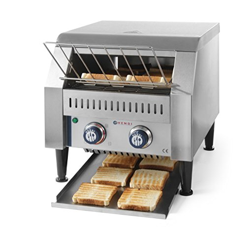 Hendi 261309 Durchlauf Toaster, Edelstahl