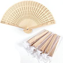 CLE DE TOUS - LOTE 10 UND Abanico de madera Troquelaso Abanicos para Invitado Boda Fiesta Abanico de madera