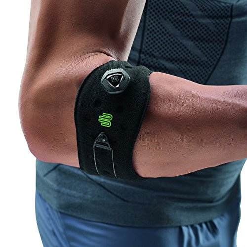 Bauerfeind Unisex Ellenbogen-Sportspange, Reduzierung der Unterarmmuskulatur-Belastung, Silikonring, Boa-Verschluss-System, Schwarz, 1 Stück (Bekleidung Boa)