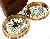 Robert Frost Nauticals Boussole de poche avec étui en cuir
