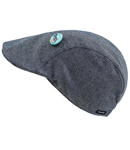 Maximo Jungenflatcap Flatcap Schiebermütze Schirmmütze Sommermütze Sportmütze innen gestreift für Kinder (MX-63503-757600-S17-JU1-0063-55) in Chinablau, Größe 55 inkl. EveryKid-Fashionguide (Cap-schuh-charme)