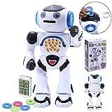 COSTWAY Ferngesteuerter Roboter elektronische Spielzeug Intelligente Walking RC für Kinder