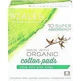 Azalea, Made With Organic Cotton Pads, Super, 10 Ct