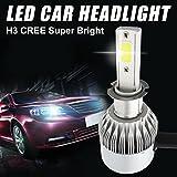 iRegro 2PC H3 luci auto fari auto luminosa eccellente Hi / Lo fascio Plug & Play Kit -55w 9200Lm 6K bianco freddo impermeabile IP65 - 3 Garanzia Yr