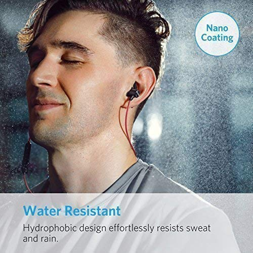 Anker SoundBuds Slim Bluetooth Kopfhörer Kabellos und Magnetverschluss, Wasserfest Sport Headset mit Mikrofon für iPhone, iPad, Samsung, Nexus, HTC und mehr(Rot) - 5
