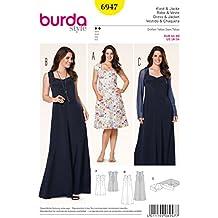 Patrón Burda 6947 Vestido y chaqueta