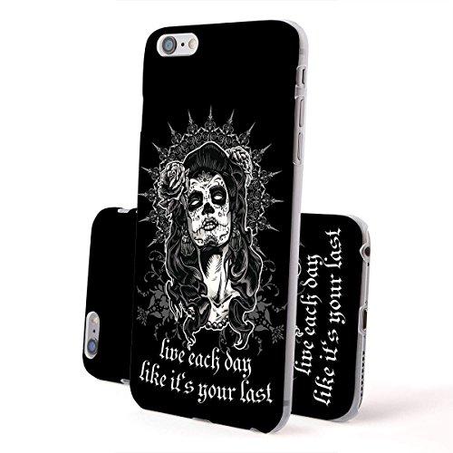 finoo | Iphone 5/5S Hard Case Handy-Hülle mit Motiv | dünne stoßfeste Schutz-Cover Tasche in Premium Qualität | Premium Case für Dein Smartphone| Regenbogen scheisse Live Each Day