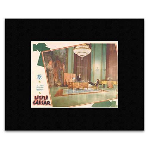 little-caesar-edward-g-robinson-and-douglas-fairbanks-jr-matted-mini-poster-182x24cm