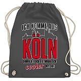 Städte - Ich komme aus Köln - Unisize - Dunkelgrau - WM110 - Turnbeutel & Gym Bag