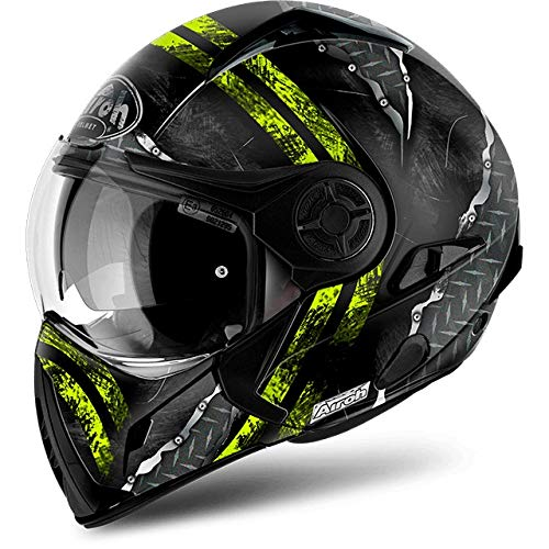 Casco Modulare Airoh J106 Crude - Green Matt / Yellow Matt (L, Yellow Matt)