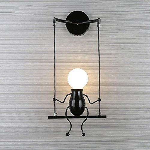FSTH Creativo Lámparas de Pared Simple Fashion Doll Swing Lámpara de Pared Moderna Apliques de Pared...