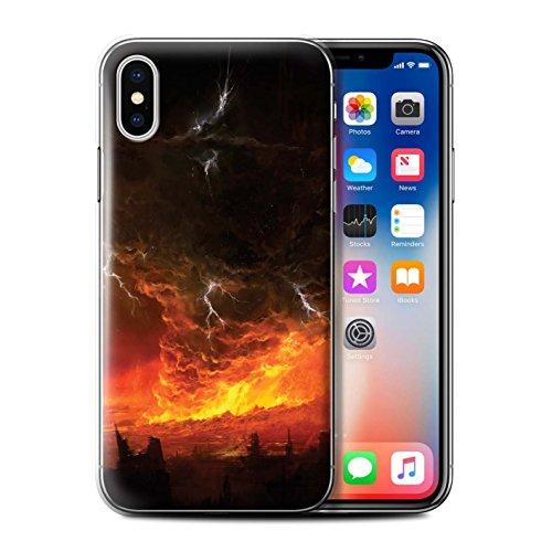 Offiziell Chris Cold Hülle / Case für Apple iPhone X/10 / Apokalypse Muster / Gefallene Erde Kollektion Apokalypse