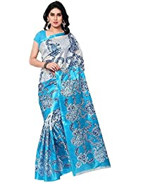 Sarees New Collection Latest Sarees Multicolour Art Silk Saree With Blouse Piece (Saree Centre Sarees For Women...