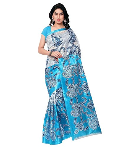 Ambe Saree Blue Colour Art Silk Saree Without blouse
