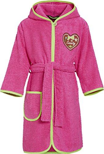 Preisvergleich Produktbild Playshoes Mädchen Frottee-Bademantel Sweety mit Kapuze, Rosa (Pink 18), 98 (Herstellergröße: 98/104)