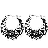#8: Shining Diva Fashion Jewelry Oxidized Silver Bali Stylish Fancy Party Wear Traditional Earrings For Women & Girls