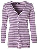 JETTE® Joop V-Shirt Jacke Cardigan Streifen Flieder 38