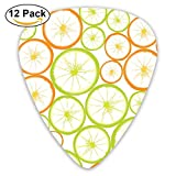 Pack de 12 Custom Guitar Picks Fruit Slices PowerPoint Template estándar Bass Guitarist Music Gifts